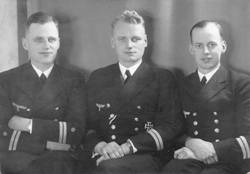 Bruno Köhler (right) with his cousins Friedrich (left) and Reinhold Körner (middle), picture taken in 1940